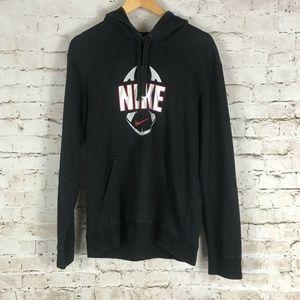VTG Nike Football Hoodie Size Small Black